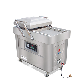 Double chambers vacuum packing machine
